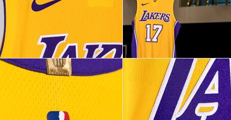 2017 Los Angeles Lakers jerseys - nba