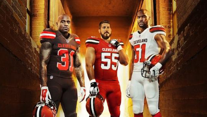 Browns 2017 uniforms - browns