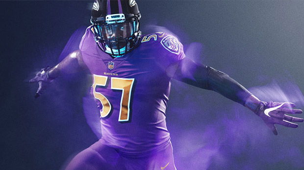 Ravens color rush jersey purple - ravens