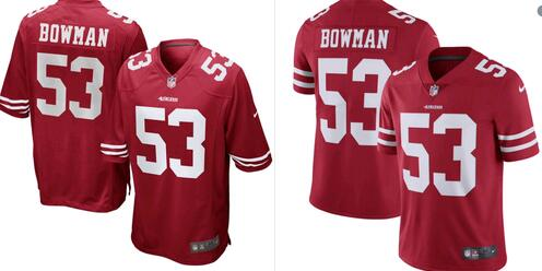 authentic 49ers jerseys in red -